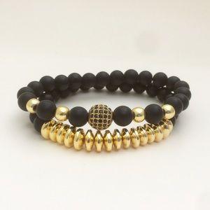 "Gold Plated Disco Ball bracelets Size 7.5 8"""